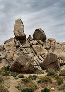 Rock Climbing Photo: Headstone Rock and Boulders below. Photo by Blitzo...