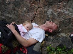 Rock Climbing Photo: Napping at the crag
