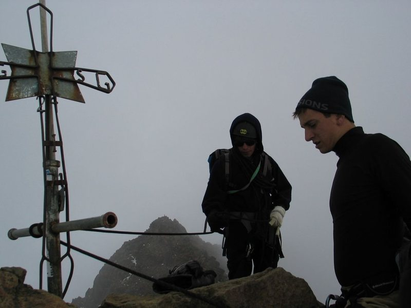 On the summit of Iliniza Norte, the cross is a commemoration to those who have died while climbing the mountain.<br> <br> Watch for condors on the approach, we had one swoop in about 30' away!