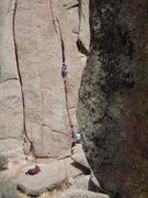 Rock Climbing Photo: Starting the wide section....