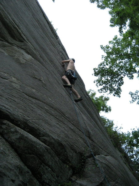 Rock Climbing Photo: Stephen in the middle of the finger crack section....