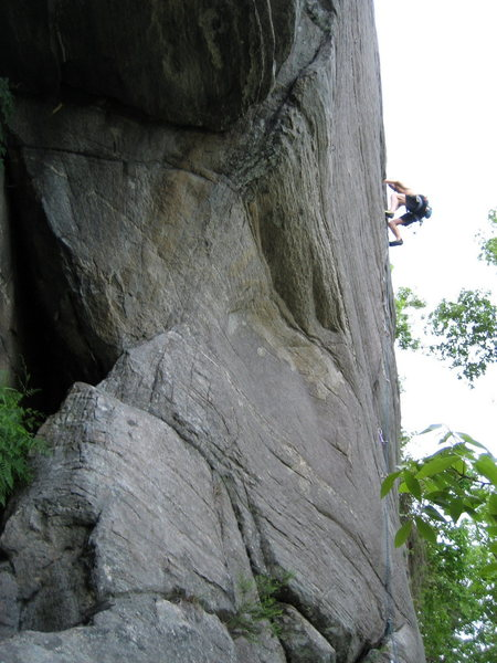 Rock Climbing Photo: Climber on Smooth as Silk