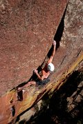 Rock Climbing Photo: Now that's hard trad climbing!  Steve sticking the...