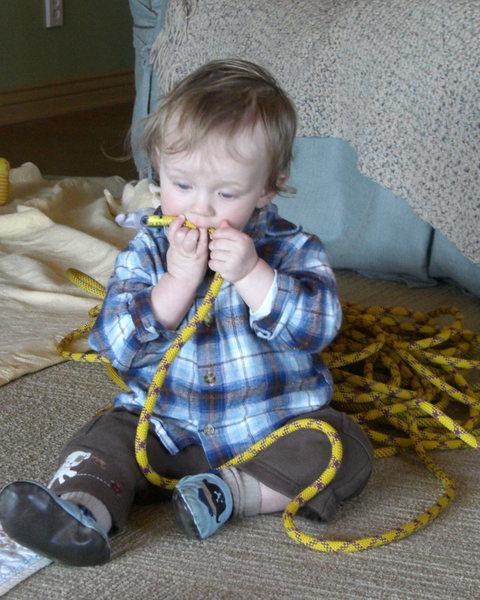 Noah's first rope...kinda.