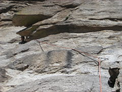 Rock Climbing Photo: The two mantles of pitch one.