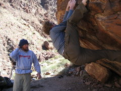 Rock Climbing Photo: Attentive spotter