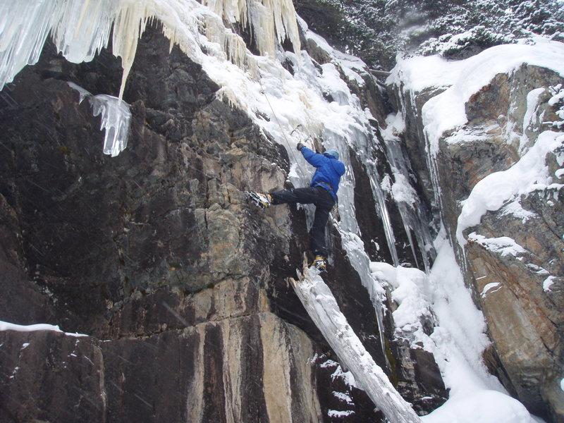 John Ryher climbing.