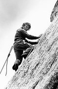 "Rock Climbing Photo: Vern Clevenger on the FA of the ""Crux"" 3..."