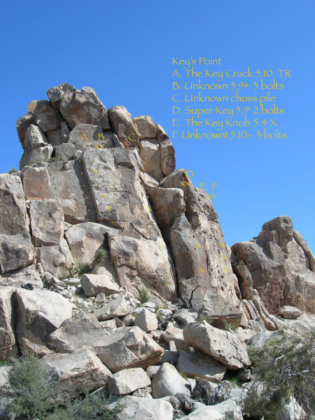 Rock Climbing Photo: Upper Key's Point Routes