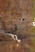 Rock Climbing Photo: Steeper than you think.  The Catalonian gettin' ba...