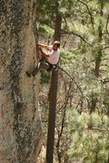 Rock Climbing Photo: Aleix fishing for feet on War of the Worlds, 5.12 ...