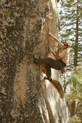 Rock Climbing Photo: Jesse works the laybacks at the start of War of th...