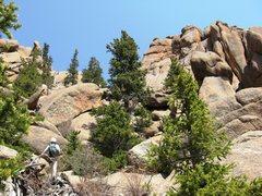 Rock Climbing Photo: Some gully scrambling.