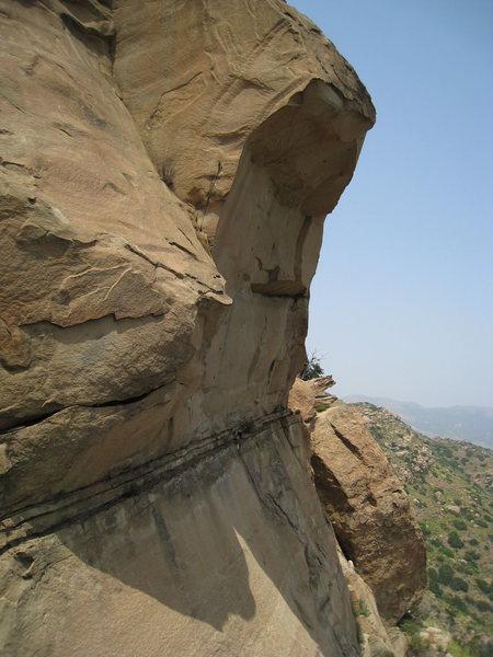 Rocky Peak, 5.8+ C1 aid roof