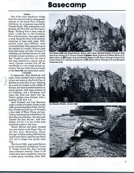 Rock Climbing Photo: Ocelot.