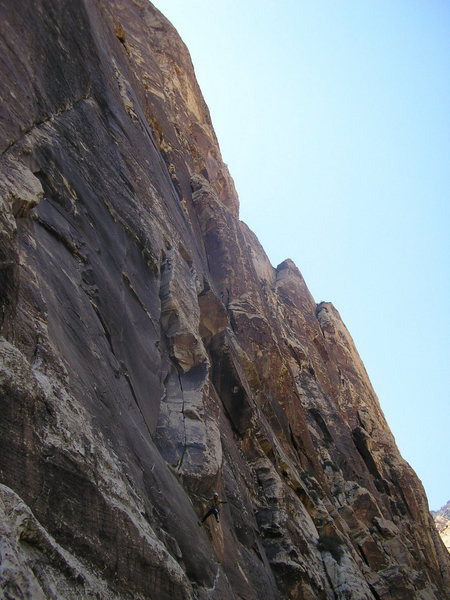 Rock Climbing Photo: Stevie over P1 the Gobbler