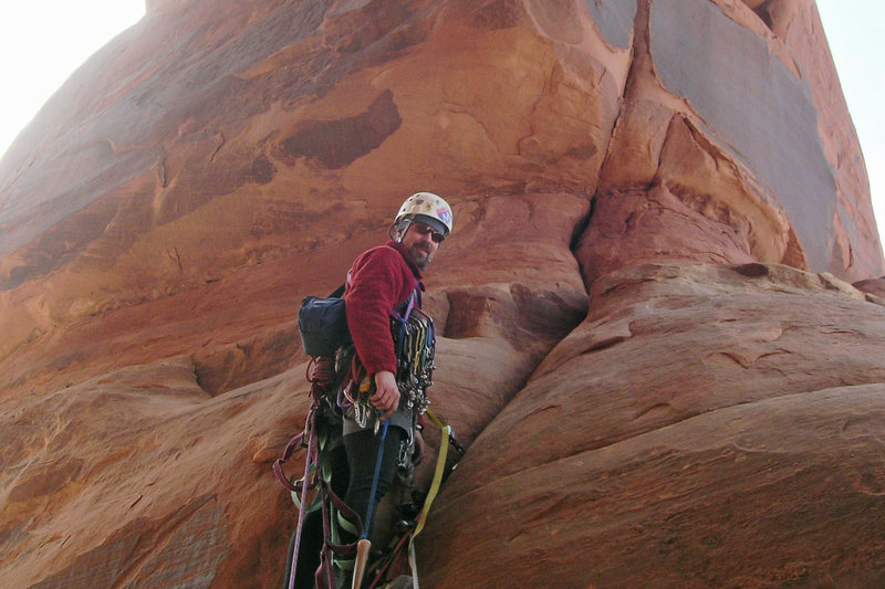 Rock Climbing Photo: Pitch two. The crack above is pretty spicy stuff f...