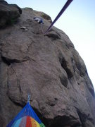 Rock Climbing Photo: Dave high on KeeMoSabe, me with hammock belay.