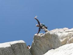 Rock Climbing Photo: Me and Kia on the Mechanics route