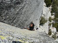 Rock Climbing Photo: Darshan on the Green Arch