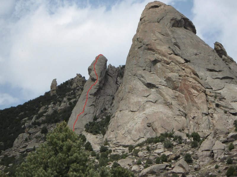 Rock Climbing Photo: Theater of shadows, Jackson's Thumb