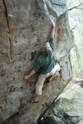 Rock Climbing Photo: About to start the crux moves.  This is probably t...