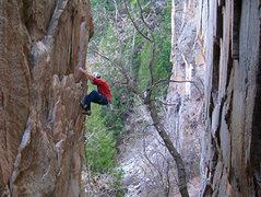 Rock Climbing Photo: The first ascent.