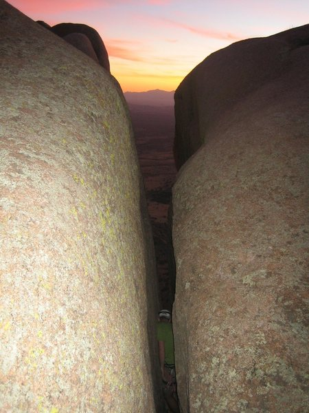 Rock Climbing Photo: love wide cracks