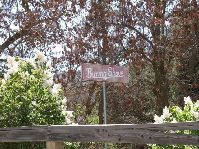 Rock Climbing Photo: Burma-Shave sign, Riverside County