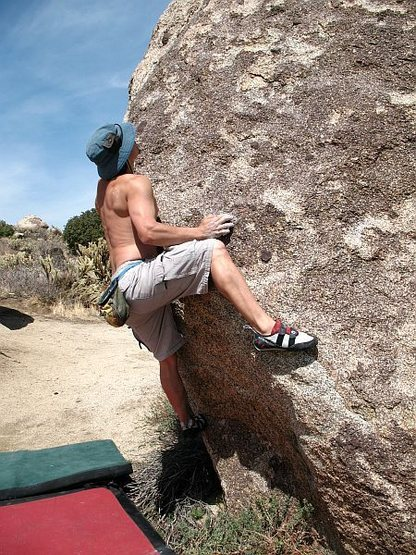 Rock Climbing Photo: Bryan on Coco Crispies (V3), Culp Valley