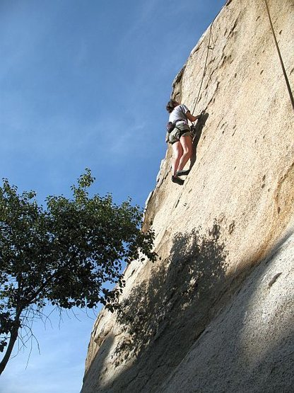 Rock Climbing Photo: Kissed by the Sun (5.8), Lake Perris SRA
