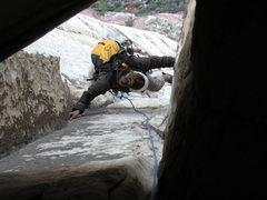Rock Climbing Photo: Chunneling