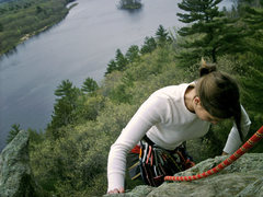 "Rock Climbing Photo: topping out ""air"""