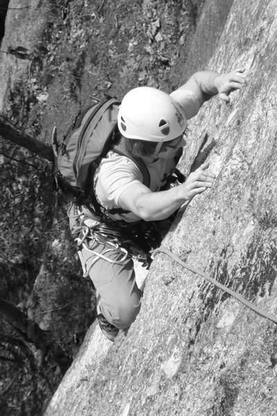 Alex on the crux of Bombardment...