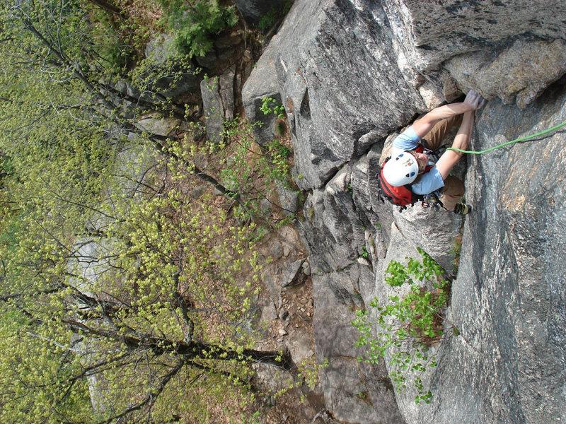 Rock Climbing Photo: Alex high up on Blacklung...