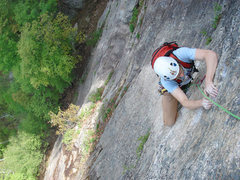 Rock Climbing Photo: Alex kendral high up on the saigons...