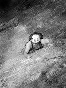 Rock Climbing Photo: Alex following Miss Saigon...