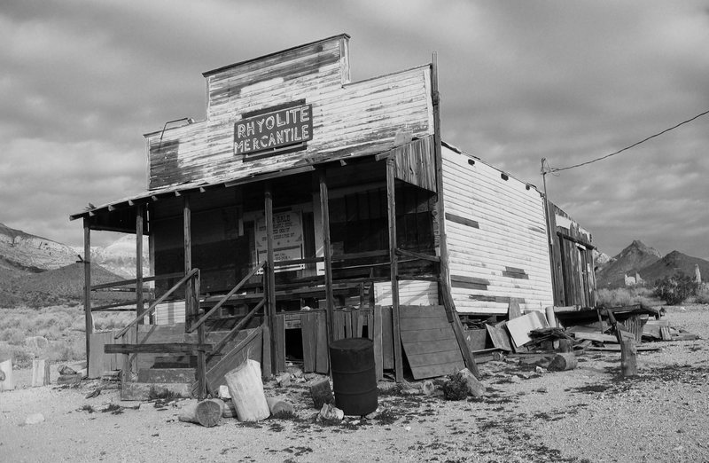 Ghost town of Rhyolite, near Death Valley NP.<br>