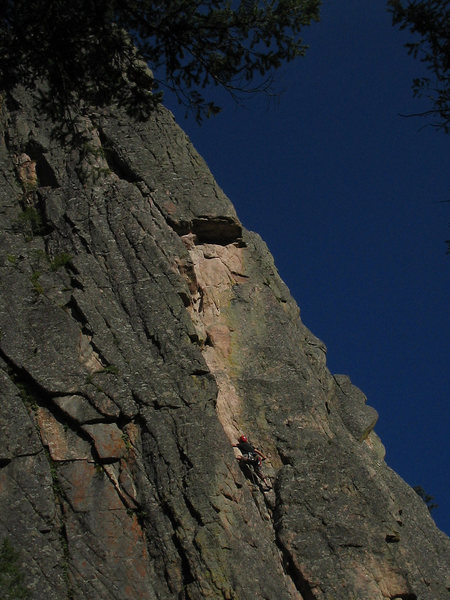 Rock Climbing Photo: The corner on the first pitch.