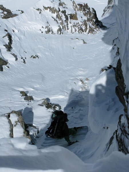 Dropping into the North Couloir of Pacific Peak, April 19 '08.