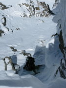 Rock Climbing Photo: Dropping into the North Couloir of Pacific Peak, A...