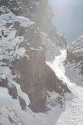Rock Climbing Photo: David standing atop the crux choke wondering how t...