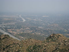 Rock Climbing Photo: View of Stoney Point from Rocky Peak.  Ahh the LA ...
