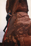 Rock Climbing Photo: Marvin Porter on Lighthouse Tower c1981