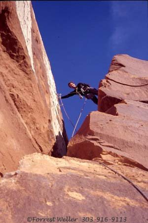Rock Climbing Photo: Duncan Burke getting ready for the crux move on Th...