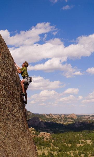 Rock Climbing Photo: Poland Hill.  Keen Butterworth on a nice 5.11 face...
