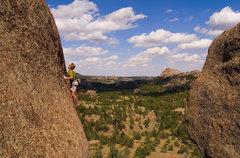 Rock Climbing Photo: Keen Butterworth enjoying Piece of Dirt.