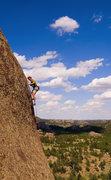 Rock Climbing Photo: Keen Butterworth on the upper face climbing sectio...