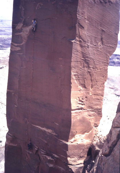 Rock Climbing Photo: Jim and Kurt, pitch 3 in '83
