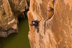 Rock Climbing Photo: Josh Finkelstein diggin' into a beauty. Photo by: ...